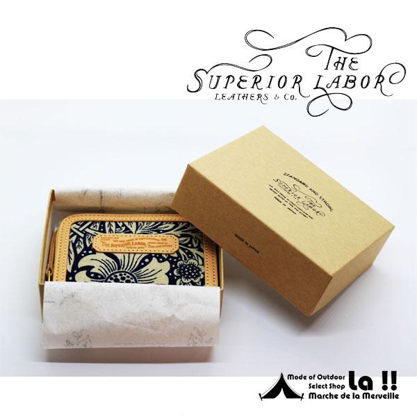 【 T.S.L. 】 シュペリオールレイバー William Morris Fabric Mini Wallet ウィリアム・モリス・ファブリック ミニ財布