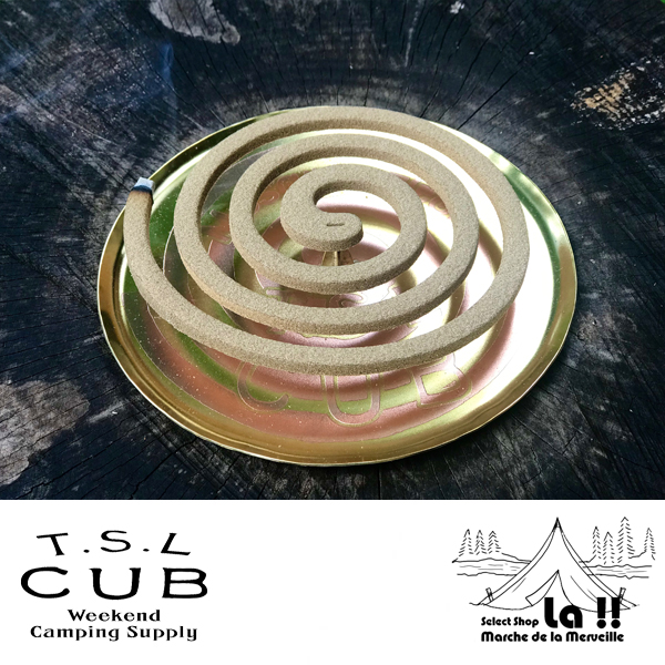 【 TSL Cub 】 ティーエスエル・カブ Brass Mosquito Coil Tray 真鍮製蚊取り線香皿