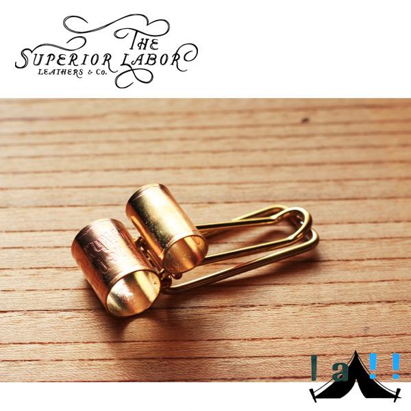 【 The Superior Labor 】 シュペリオールレイバー  Brass Pen Clip 真鍮製ペンクリップ