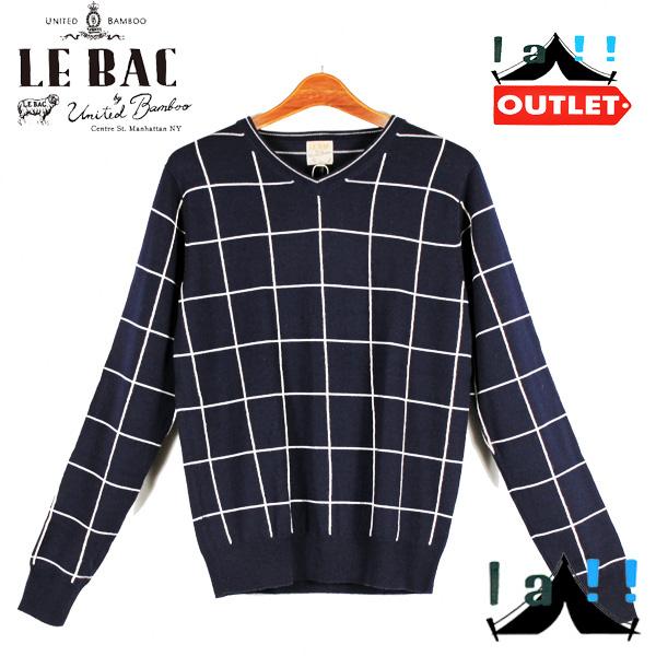【 united bamboo LE-BAC 】 ユナイテッドバンブーLe-Bac チェックセーター
