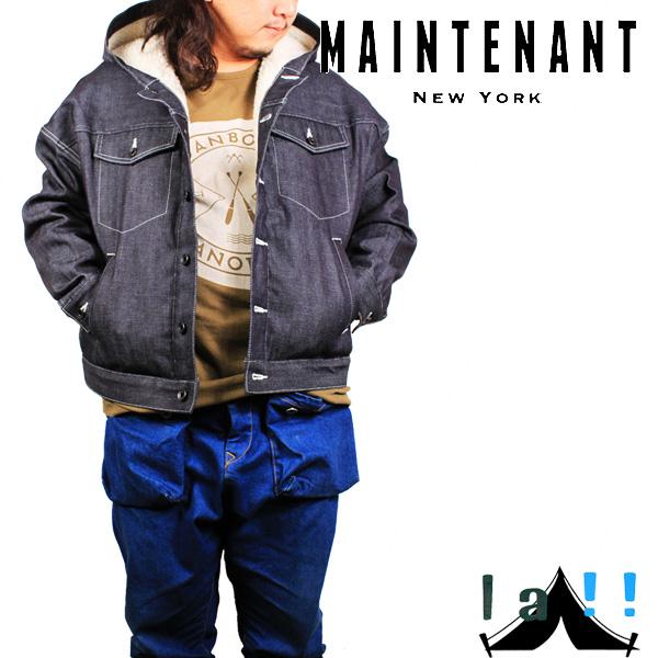 【 Maintenant N.Y. 】 メンテナント Oversized Hoodie Jacket オーバーサイズド・フーディージャケット