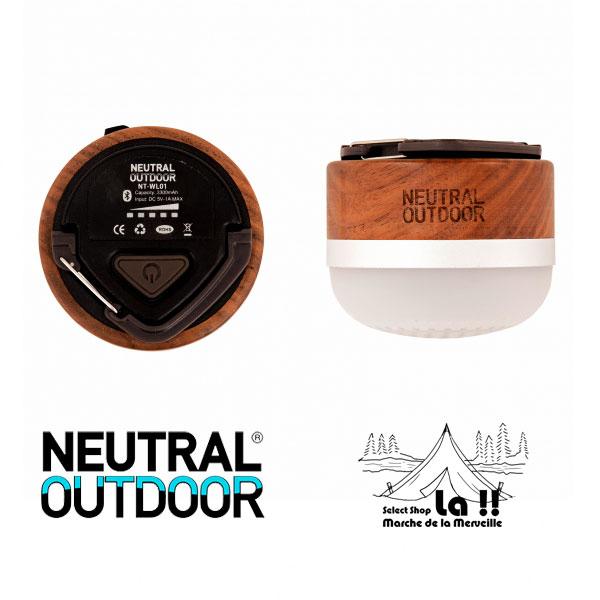 【 Neutral Outdoor 】 ニュートラルアウトドア  Wood Speaker Lantern ウッドスピーカーランタン