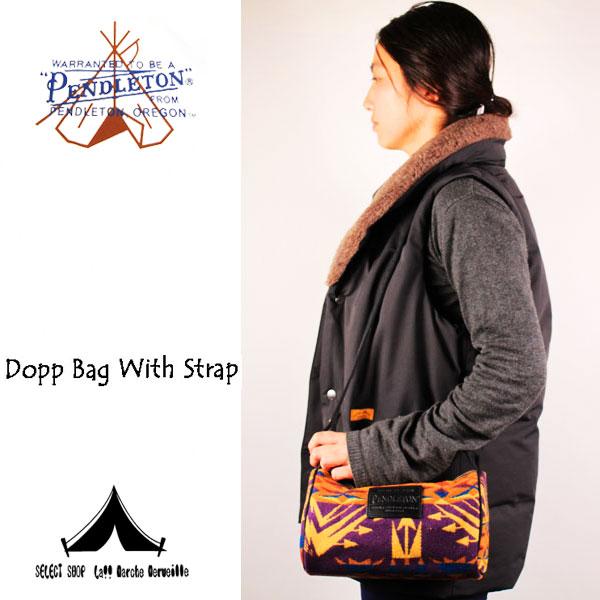 【 Pendleton Woolen Mills 】 ペンドルトン Dopp Bag With Strap (ナイロンストラップ・ブランケット素材・ドップバッグ)