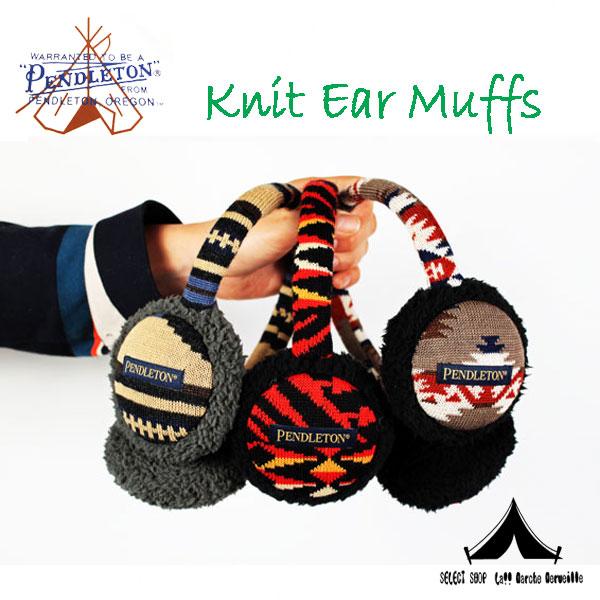【 Pendleton Woolen Mills 】 ペンドルトン Knit Ear Muffs ニット・イヤー・マフ