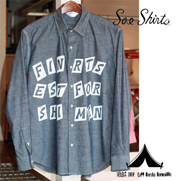 "【 Soeshirts 】 ソーイシャツ L/S CONCEALED B.D COLLAR ""Finest Shirts "" [ 2161-81-008 ]"