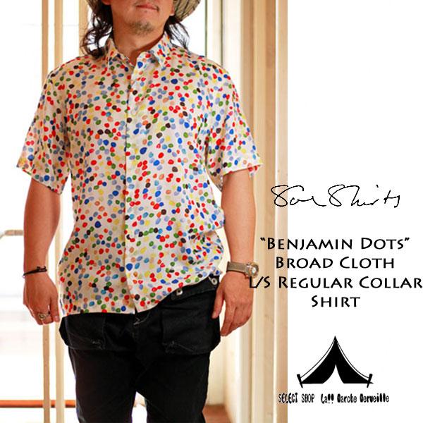 """【 Soe Shirts 】 ソーイシャツ """"Benjamin Dots"""" Tencel Broad Cloth H/S Shirt ベンジャミンドット・テンセルブロード・ハーフスリーブシャツ"""