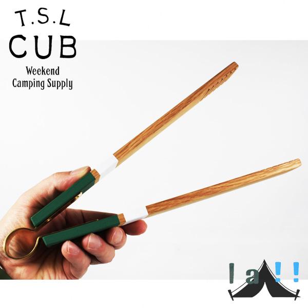 【 TSL Cub 】 ティーエスエル・カブ Wooden Tongs 木製トング