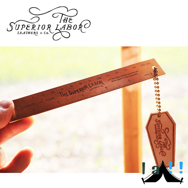 【 The Superior Labor 】 シュペリオールレイバー 15cm Brass Ruler 真鍮製ルーラー15cm