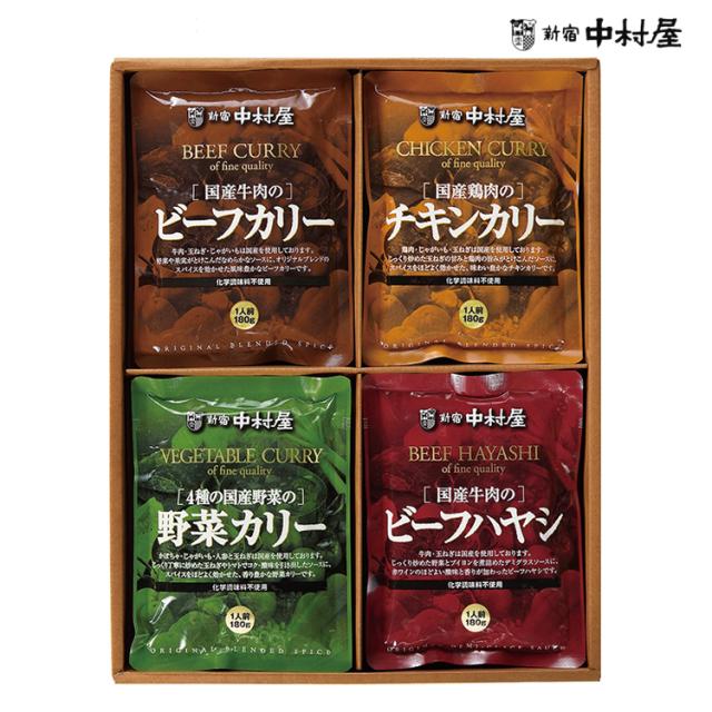 新宿中村屋 カレー&ハヤシセット 4種各3袋