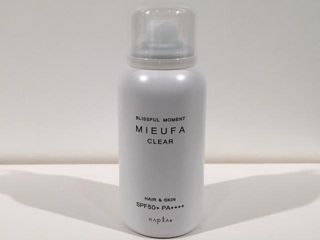 napla(ナプラ)  MIEUFA(ミーファ)  フレグランスUVスプレー (CLEAR)クリア 80g  (SPF50+・PA++++)  正規品