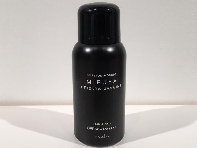 napla(ナプラ)  MIEUFA(ミーファ)  フレグランスUVスプレー (ORIENTALJASUMINE)クリア 80g  (SPF50+・PA++++)  正規品