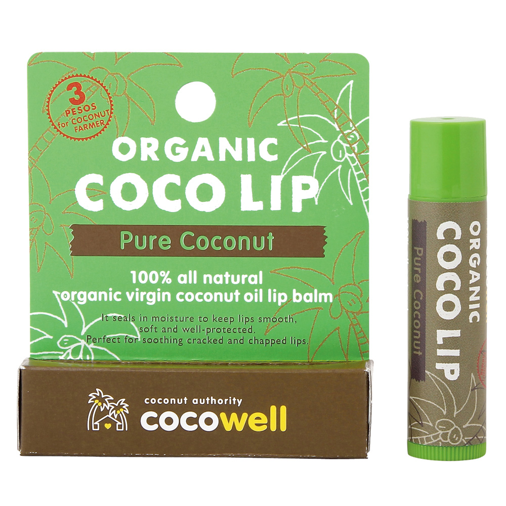 COCOWELL ココウェル リップクリーム オーガニックピュアココナッツオイル
