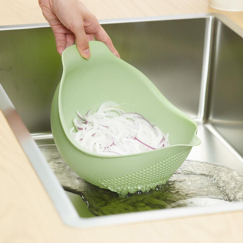 トリの水切りボウル Mサイズ グリーン 洗う・さらす・水切り・和えるが1つでできるボウル MARNA マーナ