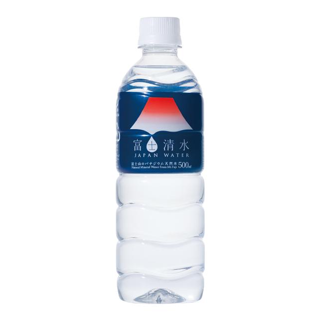富士清水500ml 24本入 ミネラルウォーター 天然水 ミツウロコビバレッジ