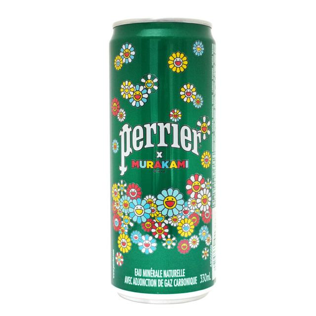 Perrier(缶)330ml 炭酸水 炭酸入ナチュラルミネラルウォーター 限定デザイン 村上隆 ペリエ