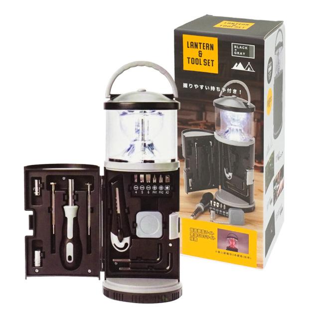 ランタン&工具セット キャンプライト SOSランプ アウトドア 防災用品 夜間作業