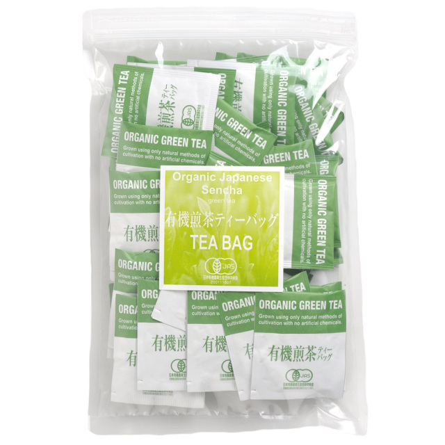 オーガニック煎茶ティーバッグ2.2g×50袋 鹿児島県産 有機栽培緑茶