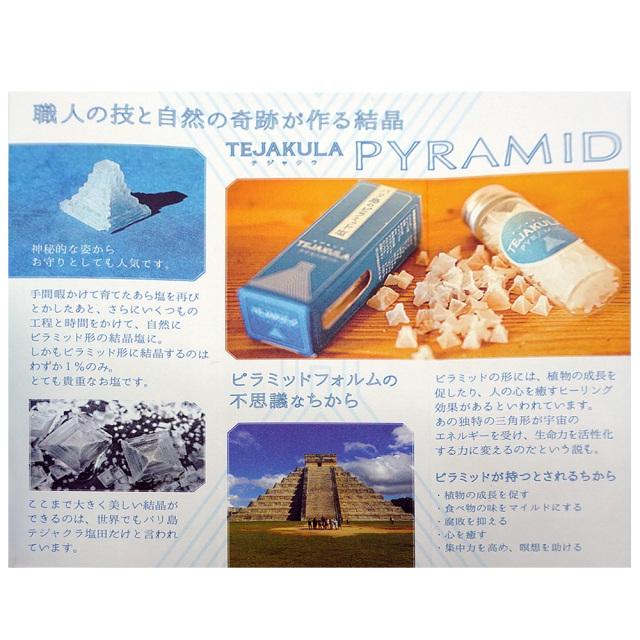 インドネシア産ピラミッド塩の説明書 バリ島の完全天日塩7g TEJAKULAテジャクラ 御塩屋