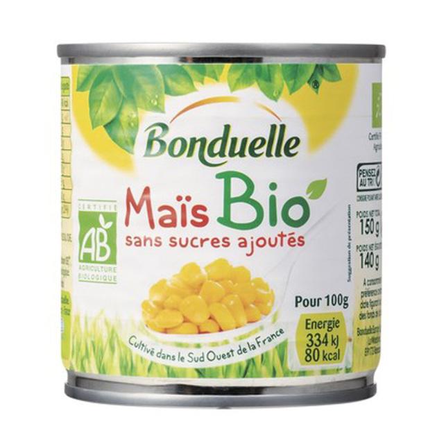 有機スイートコーン オーガニック 缶詰 JAS Bonduelle ボンデュエール