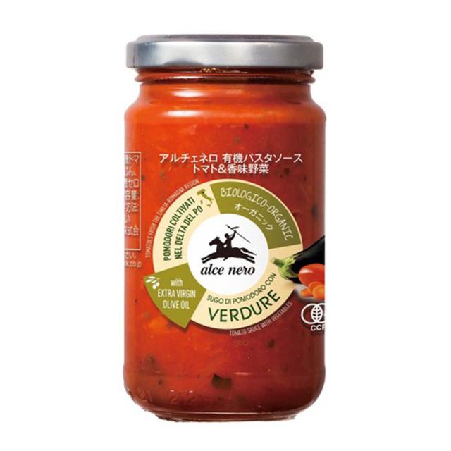 有機パスタソース トマト 香味野菜 200g オーガニック 有機JAS EU有機認定商品 alce nero アルチェネロ