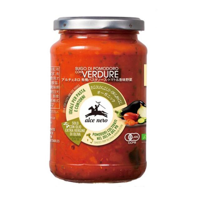 有機パスタソース トマト 香味野菜 350g トマトソース オーガニック 有機JAS EU有機認定商品 alce nero