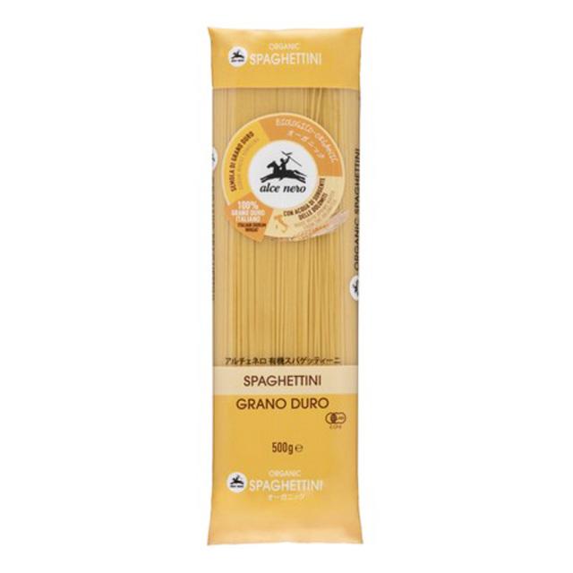 有機スパゲッティーニ 500g パスタ オーガニック 有機JAS EU有機認定 alce nero