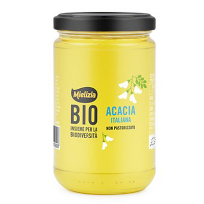 イタリア産アカシアの有機ハチミツ 瓶400g オーガニック MIELIZIA ミエリツィア
