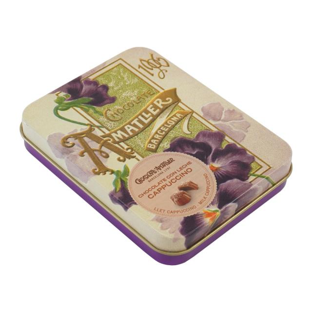 アマリエ チョコレート カプチーノミルクチョコ72g AMATLLER 紫缶すみれ