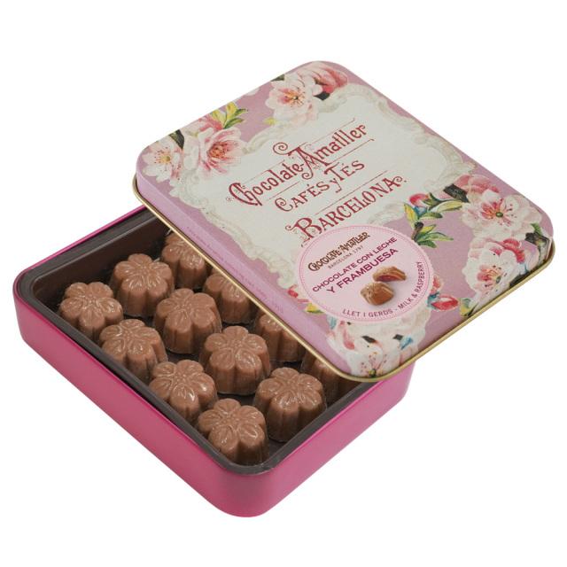 アマリエ チョコレート ラズベリーミルクチョコ缶72g AMATLLER アーモンドの花
