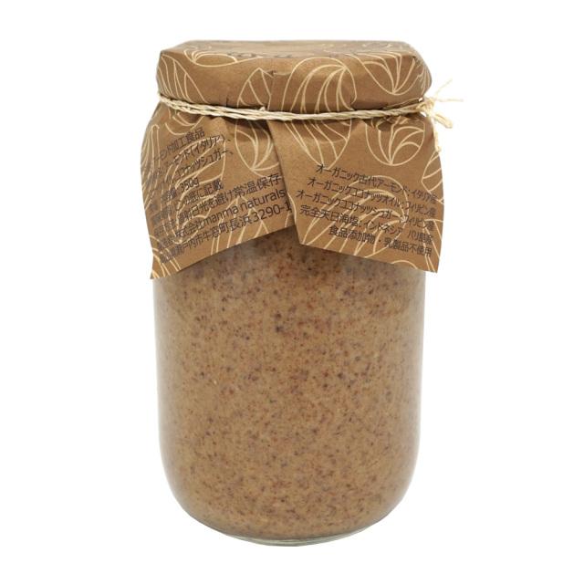 プレミアム生アーモンドバター350g オーガニック 原材料・商品説明 manma naturals