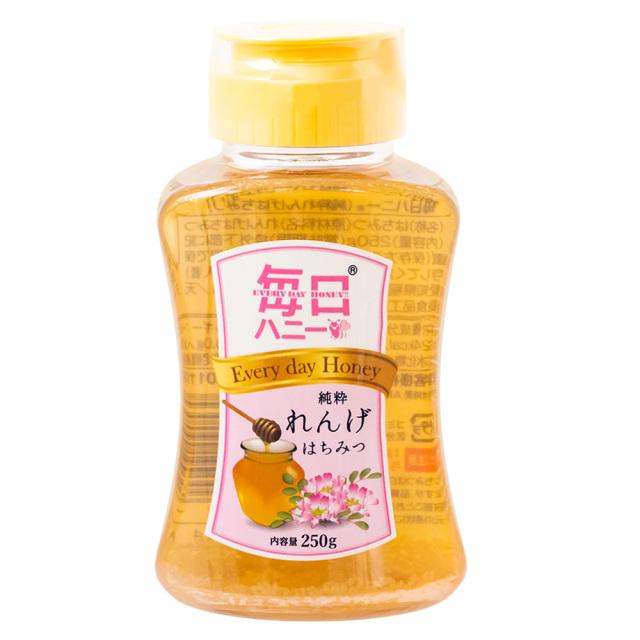 毎日ハニー純粋れんげはちみつ250g 天然蜂蜜100% フルーティ 天長食品