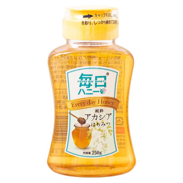 毎日ハニー純粋アカシアはちみつ250g 天然蜂蜜100% 天長食品