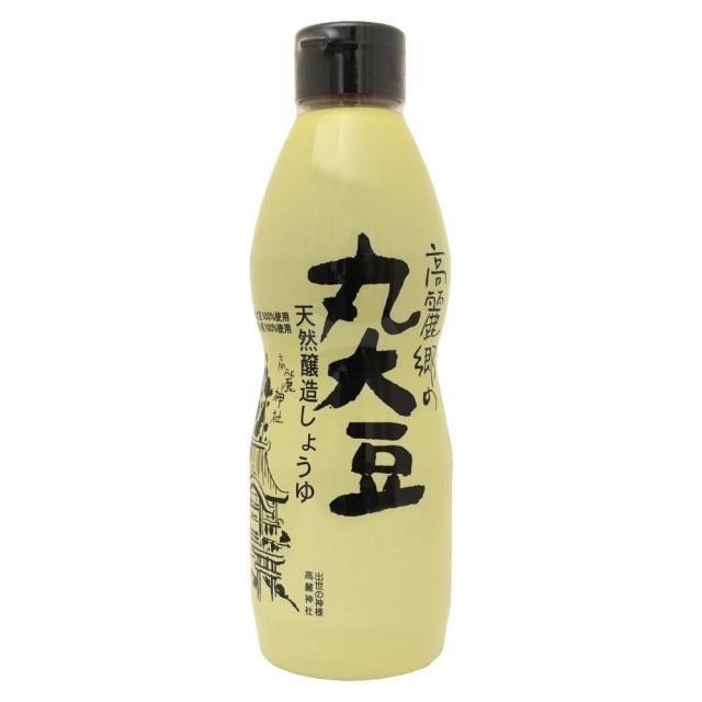 高麗郷丸大豆醤油460ml 国産大豆・天日塩 無添加 弓削多醤油