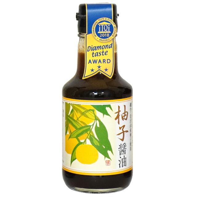 柚子醤油150ml 柚子果汁・柚子の皮入り丸大豆醤油 弓削多醤油