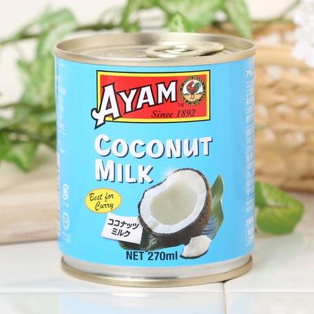 アヤム ココナッツミルク 270ml 缶入 マレーシア産 AYAM