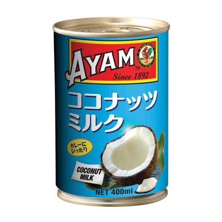 アヤム ココナッツミルク 400ml 缶入 マレーシア産 AYAM