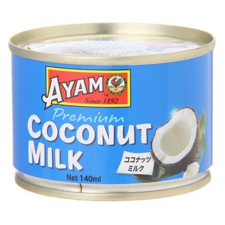 アヤム ココナッツミルク プレミアム 140ml 缶入 マレーシア産 AYAM