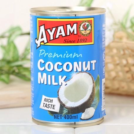 アヤム ココナッツミルク プレミアム 400ml 缶入 マレーシア産 AYAM