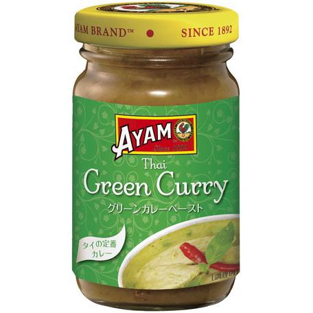 アヤム グリーンカレーペースト 瓶100g マレーシア産 AYAM