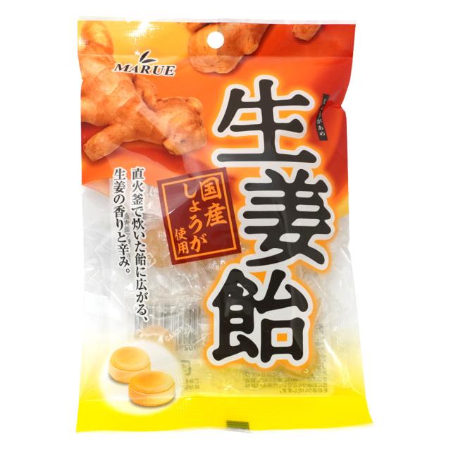 生姜飴80g 国産しょうが使用 マルエ製菓