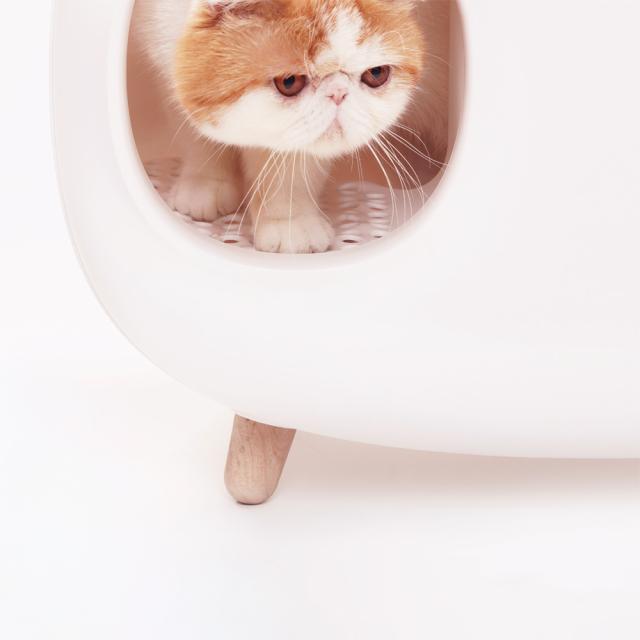 猫トイレ スコップ付き 猫砂飛び散り防止 大型 HEBENA ネコが出るところ