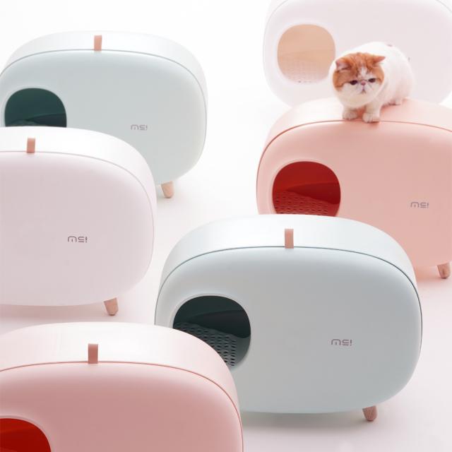 猫トイレ スコップ付き 猫砂飛び散り防止 大型 HEBENA カラフルでオシャレなデザイン