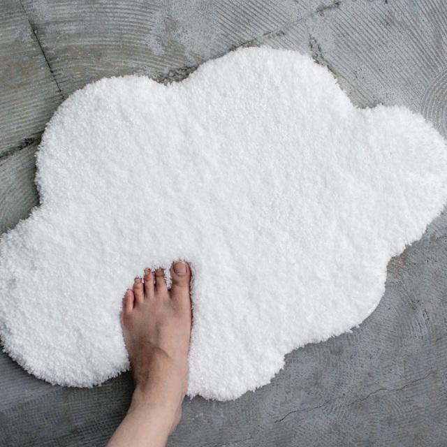 Cloudバスマット 雲型 &NE(アンドエヌイー) n.elephant(エヌエレファント) ふわふわな踏み心地