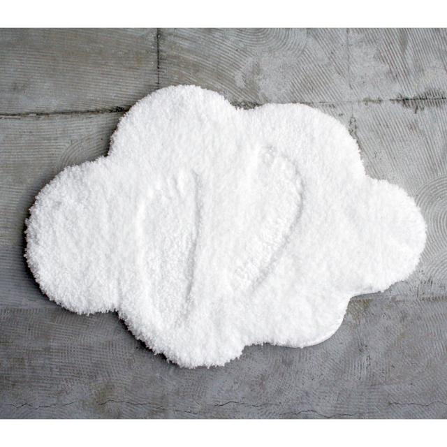 Cloudバスマット 雲型 &NE(アンドエヌイー) n.elephant(エヌエレファント) ふわふわな生地