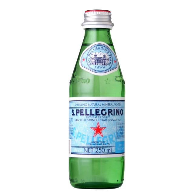 サンペレグリノ炭酸水スパークリングウォーター 発泡性スクリュー250ml SANPELLEGRINO