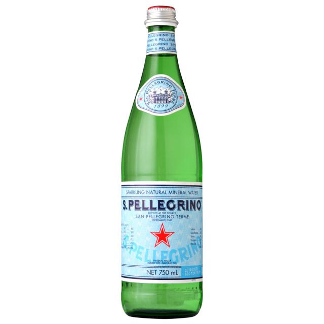 サンペレグリノ炭酸水スパークリングウォーター 発泡性スクリュー750ml SANPELLEGRINO