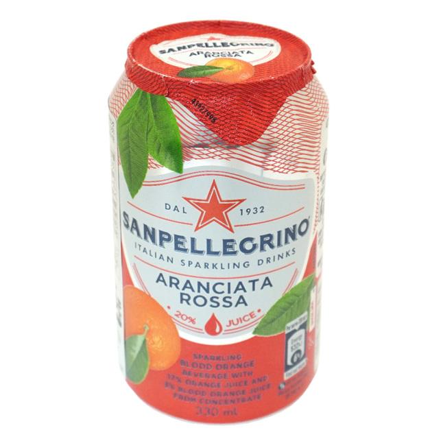 イタリアンスパークリングドリンク SANPELLEGRINO サンペレグリノ アランチャータロッサ(ブラッドオレンジ果汁入り)330ml