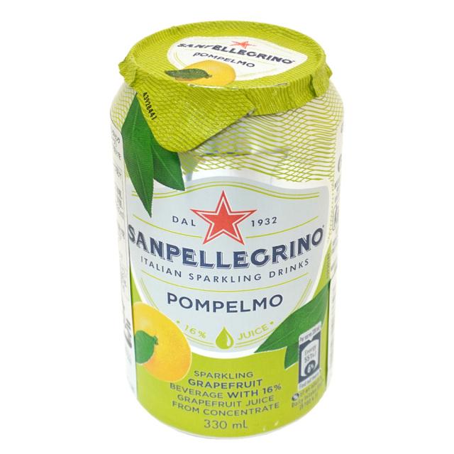 イタリアンスパークリングドリンク SANPELLEGRINO サンペレグリノ ポンペルモ(グレープフルーツ果汁入り)330ml