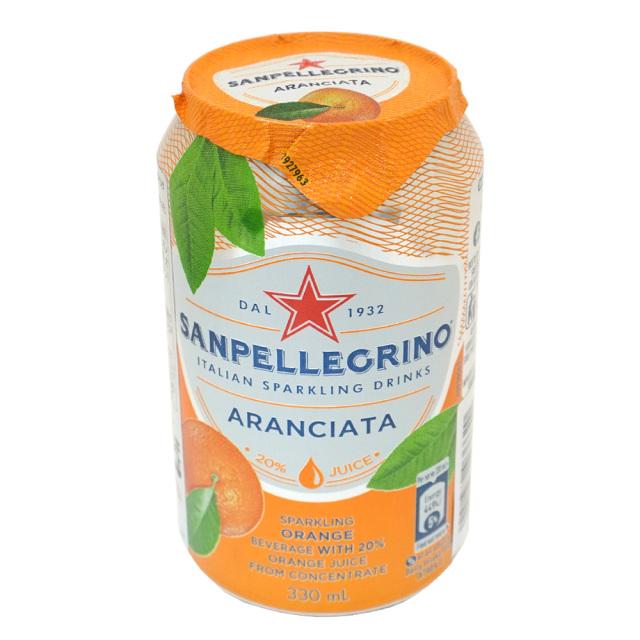 イタリアンスパークリングドリンク SANPELLEGRINO サンペレグリノ アランチャータ(オレンジ果汁入り)330ml
