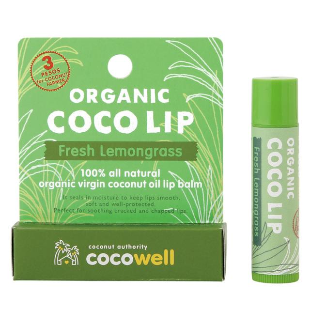 COCOWELL ココウェル リップクリーム オーガニック レモングラスの香り